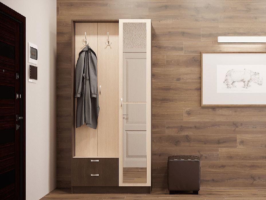 Шкаф-купе 2-дверный для одежды сильва.